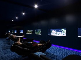 Google's Black Light Aquarium Room