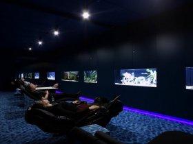Google's Black Light Aquarium Room