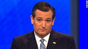 Ted Cruz telling a sad story about his half-sister, before obliquely blaming the Mexicans. Photo: CNN