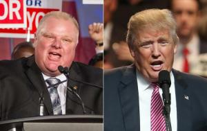 The start of a whole new approach to political messaging. Ford and Trum. Photo from NY Daily News.